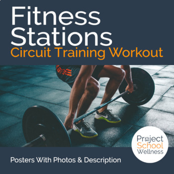 P.E. Fitness Stations: Circuit Training Workout with Poste