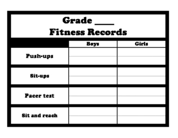 Fitness Records Page