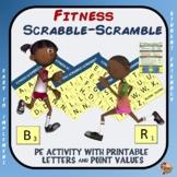 Fitness Scrabble-Scramble: PE Activity with Printable Lett