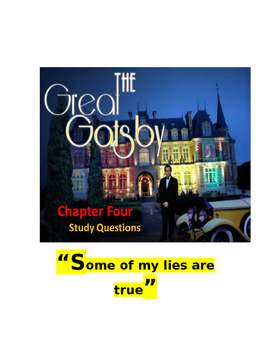 Fitzgerald ~ The Great Gatsby Chapter 4 Study Questions FREE