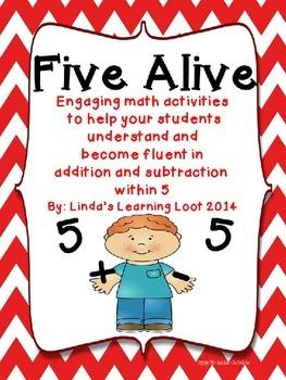 Addition Fluency: Five Alive