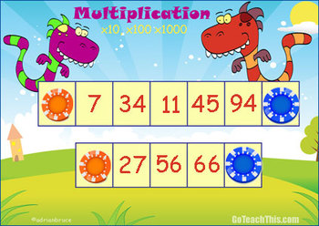 'MULTIPLICATION GAME' & 'DIVISION GAME' - by 10, 100 & 1 000
