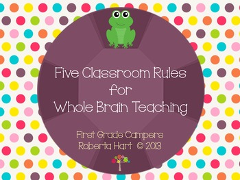 Five Classroom Rules for Whole Brain Teaching - Frog Theme