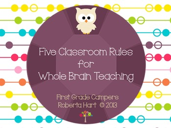 Five Classroom Rules for Whole Brain Teaching - Owl Theme
