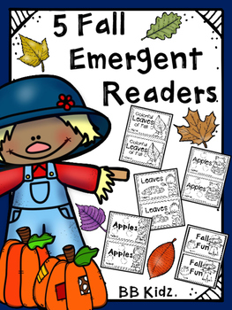 Five Fall Emergent Readers {Booklets are about Fall, Apple