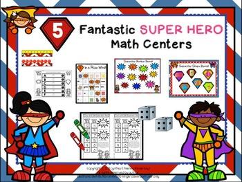 Five Fantastic Super Hero Math Centers