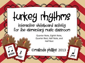 Mimio: Five Fat Turkeys & Rhythms for the Kodaly or Orff C