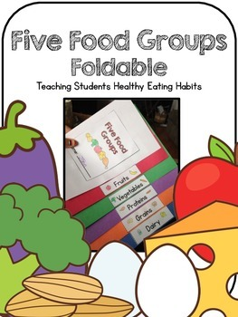 Five Food Groups Color Coded Foldable