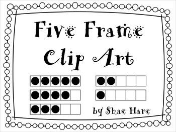 {Five Frame} Clip Art  0-5  Common Core Math Aid Graphics