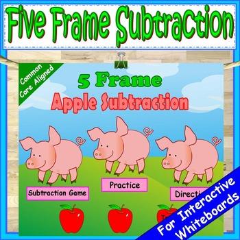 Five Frame Subtraction Kindergarten Math