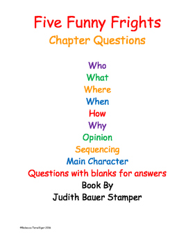 Five Funny Frights Comprehension Questions