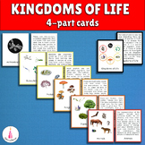Five Kingdoms of Life Montessori 3-part cards +description cards