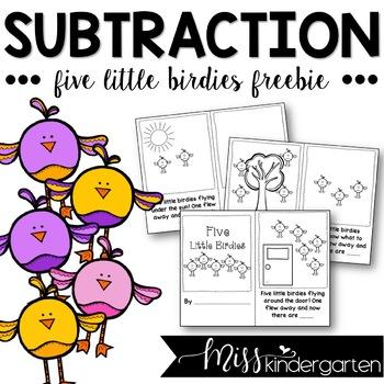 Five Little Birdies {subtraction story}