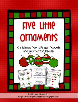 Five Little Ornaments Subtraction Emergent Reader and More