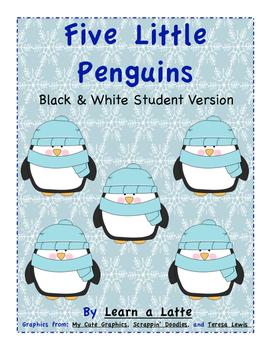 Five Little Penguins (Black & White Version)