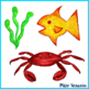 Ocean Animals and Sea Creatures ~ 10 Hand-Drawn Colored Pe