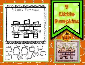 Five Little Pumpkins Cut and Paste Halloween Activity