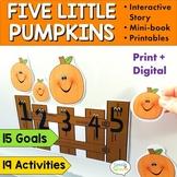 Five Little Pumpkins Nursery Rhyme & Phonological Activiti
