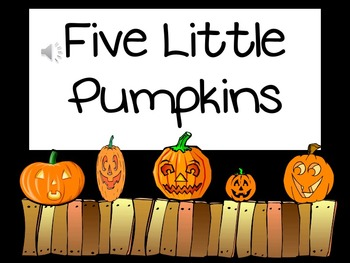 FIVE LITTLE PUMPKINS- ENGLISH AND SPANISH! -JUST IN TIME F