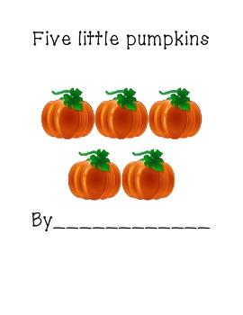 Five Little Pumpkins printable easy reader