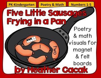 Five Little Sausages Felt & Magnet Board Activity (Math &