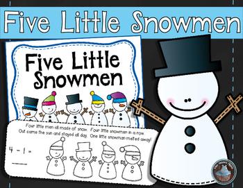 Five Little Snowmen {A Subtraction Story} Dollar Deal!