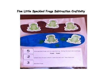 Five Little Speckled Frogs Craftivity