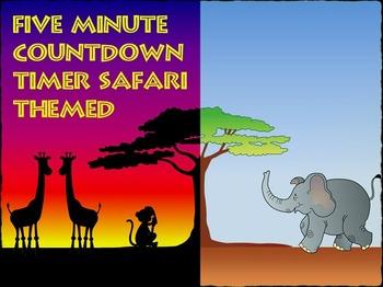 Five Minute Countdown Timer PowerPoint - Safari Theme - Su