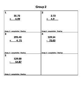 Five Minute Frenzies - 5.NBT.7 - Decimal Computation (addi