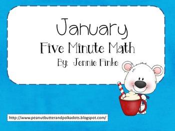 Five Minute Math:  January (Common Core Aligned)