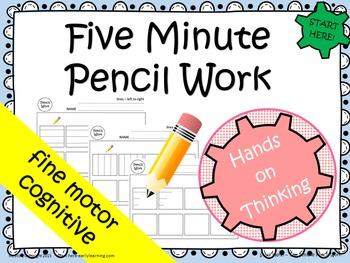NO PREP Five-Minute Pencil Work - beginning pencil marking