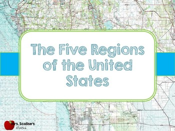 Five Regions of The United States Fully Animated Powerpoint