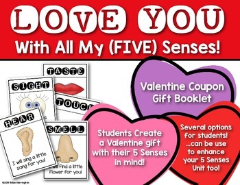 Five Senses Coupon Booklet {Sweet Valentine's Day Gift} Ki