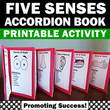 The Five Senses Accordion Book Science Foldable Craftivity