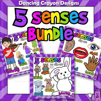 Five Senses Clip Art BUNDLE
