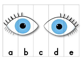 Five Senses ABC Order Puzzles (lowercase)