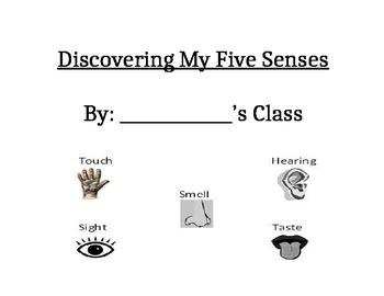 Five Senses Class Book Cover Page