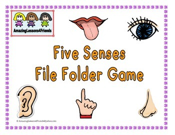 Five Senses File Folder Game