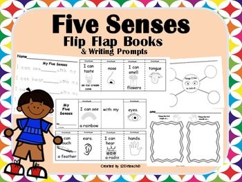 Five Senses Flip Flap Book & Writing Prompts