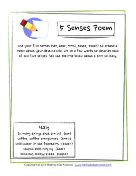 Five Senses Poem