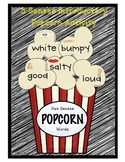 Five Senses Popcorn Introduction Activity