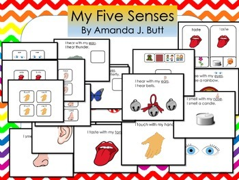 Five Senses:  Smell, Touch, Taste, Hear, See, Autism; Spec