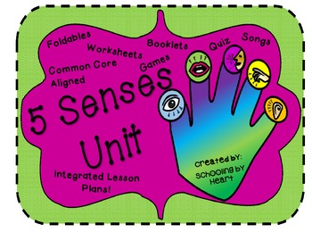 Five Senses Unit Study: Two Week Integrated Unit! (Great 4