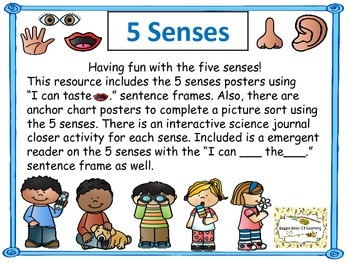 Five Senses Unit with Interactive Science Journal Activity