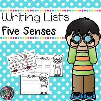 Five Senses-Writing Lists