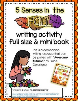 Five Senses in the Fall writing activity