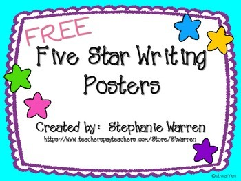 Five Star Writing Posters