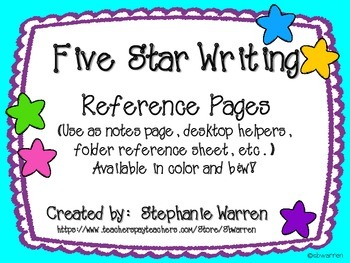 Five Star Writing Reference Pages