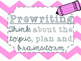 Five Step Writing Process Posters {Pastel Chevron}