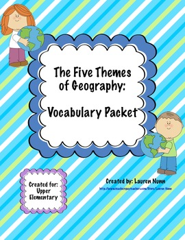 Five Themes of Geography Vocabulary Packet